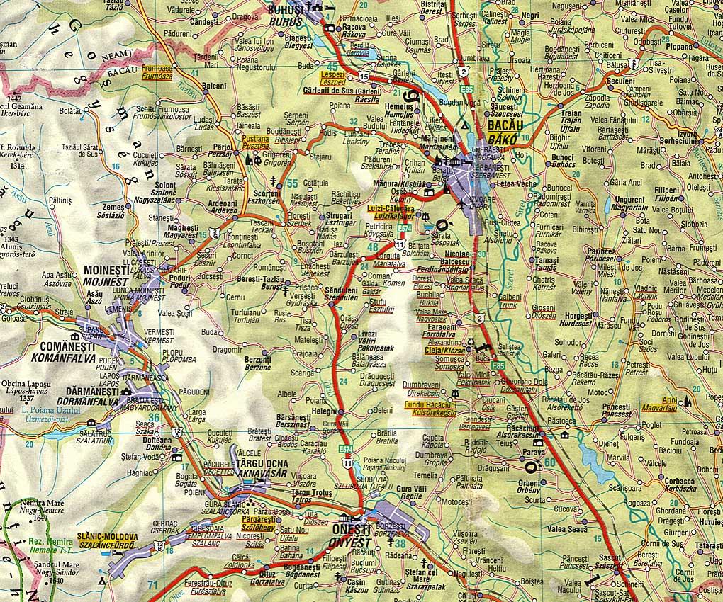 moldva térkép Moldvai csángók
