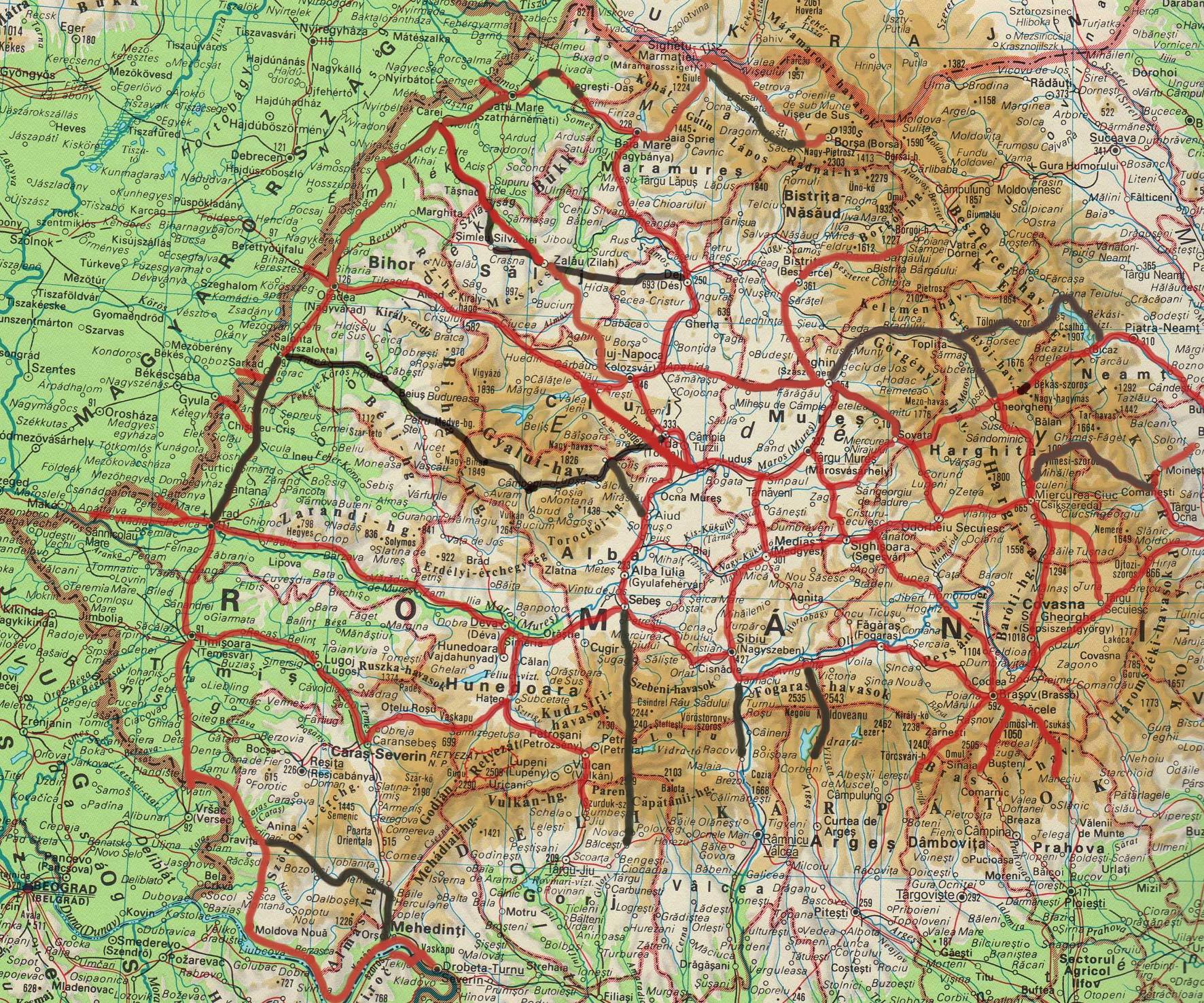 erdély térkép magyar helységnevekkel ERDÉLYBE UTAZÓKNAK erdély térkép magyar helységnevekkel